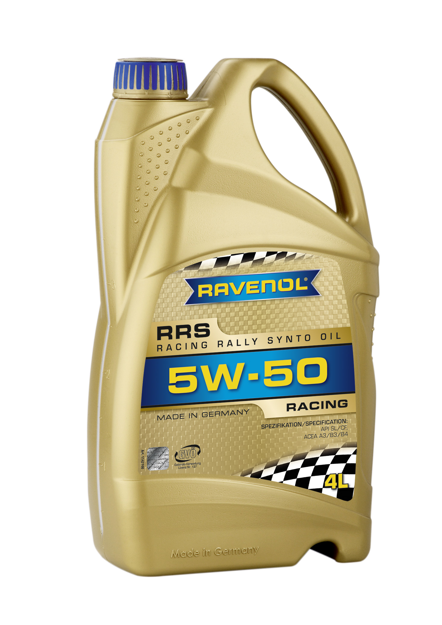 Моторное масло RAVENOL Racing Rally Synto SAE5W-50 ( 4л) new